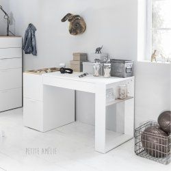 "BUREAU ENFANT BLANC ""JUNIOR"""