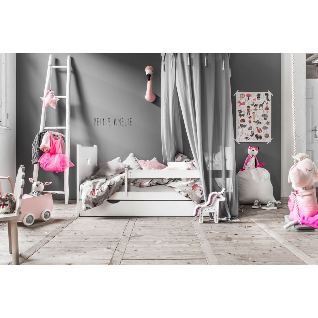 lit enfant nuit blanc avec toile par petite am lie d s 199 00. Black Bedroom Furniture Sets. Home Design Ideas