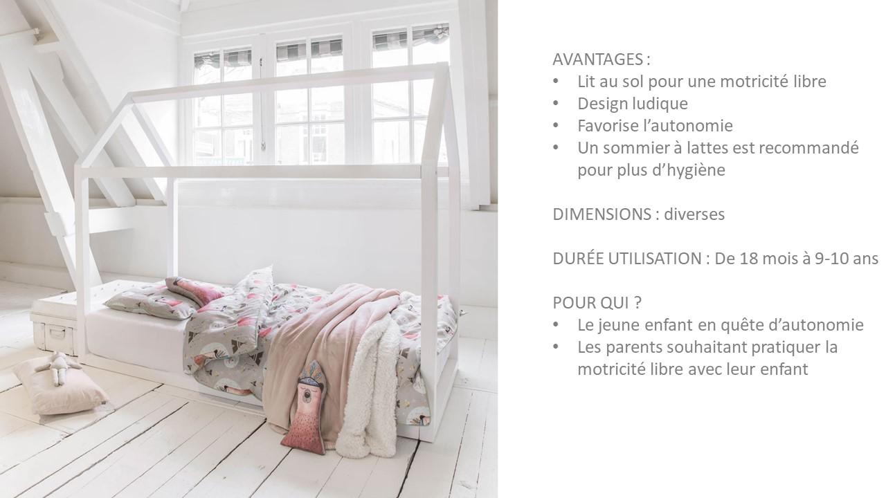 lit cabane montessori par Petite Amélie