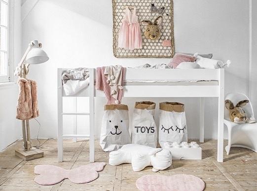 Acheter un lit surélevé bois blanc enfant Petite Amelie