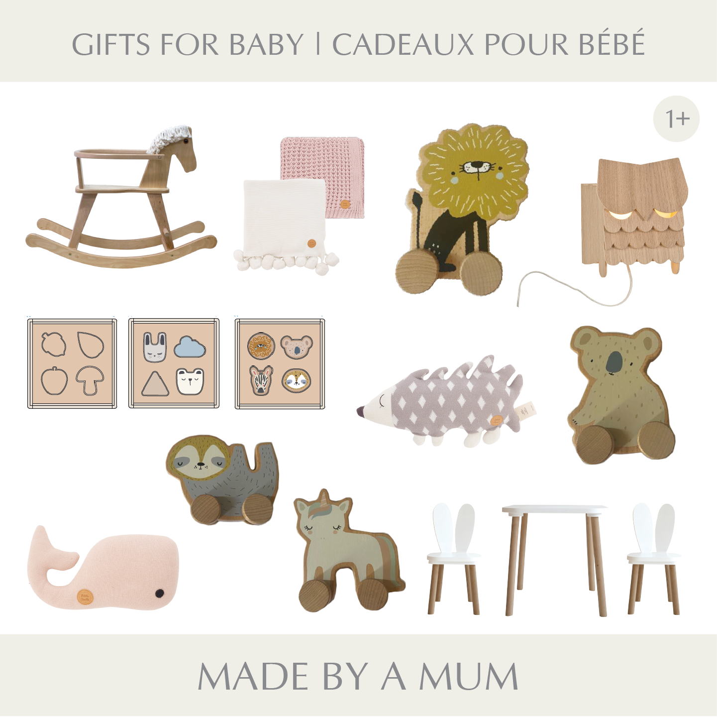 sélection de cadeaux Noël bébé