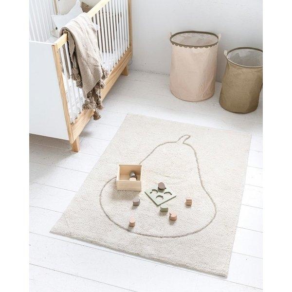 Décoration chambre bébé avec un tapis enfant lavable doux et naturel Petite Amélie