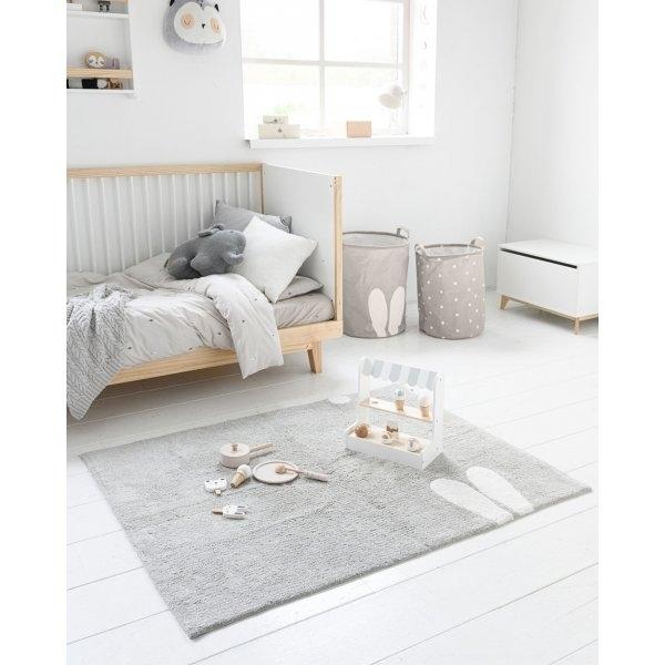 Tapis chambre enfant lapin lavable et antidérapant Petite Amélie