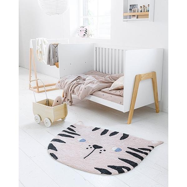 Tapis chambre bébé chat rose, tapis lavable et doux par Petite Amélie