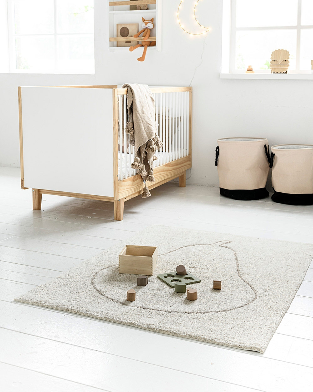 Tapis pour chambre bébé, tapis lavable et doux par Petite Amélie