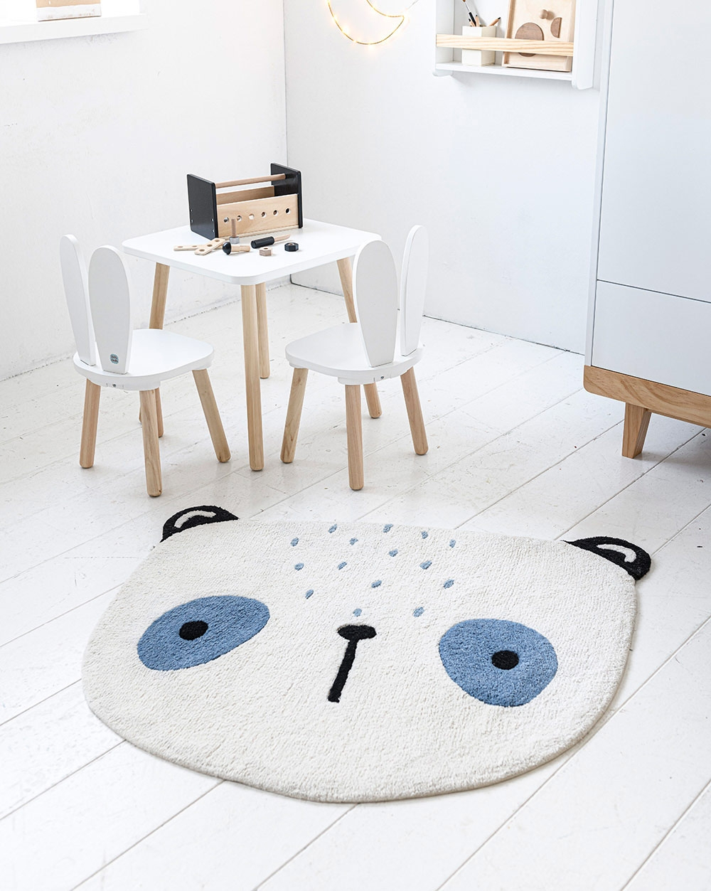 tapis enfant lavable panda