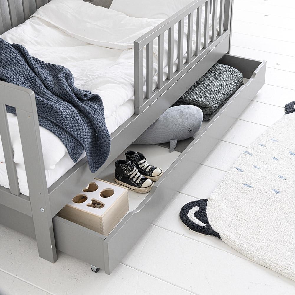 tiroir lit enfant gris