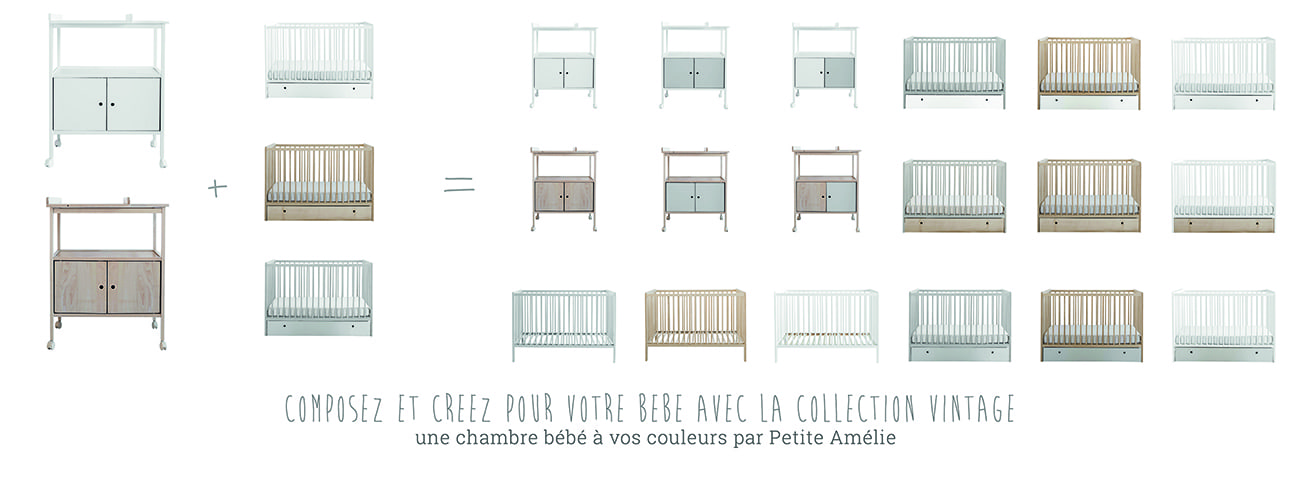 Chambre bébé vintage Petite Amélie