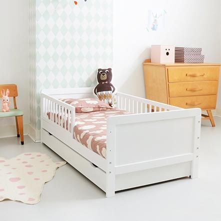 papier peint chambre enfant lit vivien