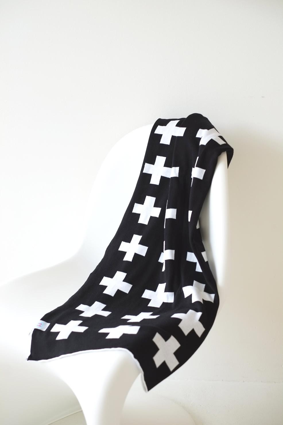 Nouveauté couverture bébé graphique noir et blanc pour berceau